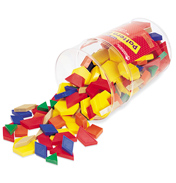 Plastic Pattern Blocks 1cm (Set of 250)