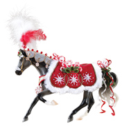 Peppermint Kiss Festive Horse Figure