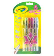 Crayola 6 Glitter Colour Gel Pens