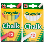Crayola 12 Anti Dust Chalk White