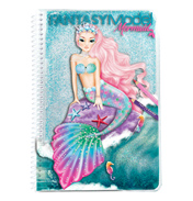 Fantasy Model Colouring Book MERMAID