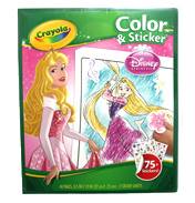Disney Princess Colour & Sticker Book