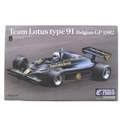Ebbro Team Lotus Type 91 Belgian GP 1982 Model Set…