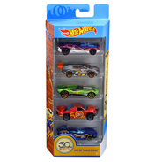 50th Anniversary Track Stars Die-Cast Cars 5-Pack