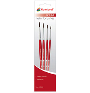 Humbrol EVOCO Brush Pack (Set includes 0, 2, 4, 6)
