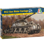 M12 Gun Motor Carriage US Self Propelled Gun Model Kit (Scale 1:72)