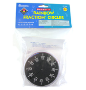 Magnetic Foam Rainbow Fraction Circles