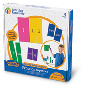 Learning Essentials Double Sided Magnetic Fraction Squares