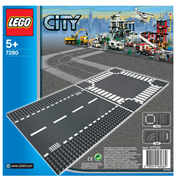 Lego City Straight & Crossroad Road Section