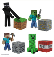 "Minecraft 3"" Action Figure STEVE with DIAMOND…"