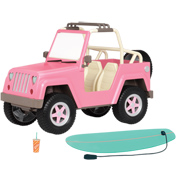 4x4 Off-Road Vehicle for Dolls with Accessories