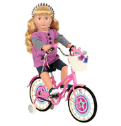 Anywhere You Cruise Doll Bicycle