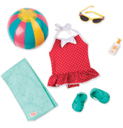 Beach Belle Retro Doll Outfit