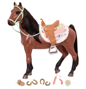 Buckskin Toy Horse & Accessories