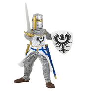 The Medieval Era Black Knight with Sword Figure