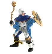 The Medieval Era Blue Officer with Mace Figure