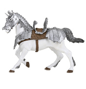 The Medieval Era Horse in Armour Figure