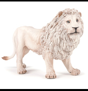 Wild Animal Kingdom Large White Male Lion Figure