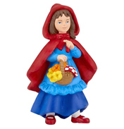 The Enchanted World Little Girl with Riding Hood Figure