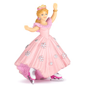 The Enchanted World Pink Princess with Ice Skates Figure