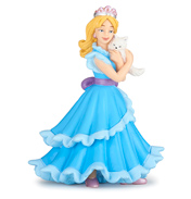 The Enchanted World Blue Princess with Cat Figure