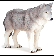Wild Animal Kingdom Large Wolf Figure