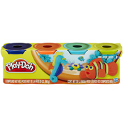 Play-doh 4 x 140g Packs in BLUE, WHITE, YELLOW…