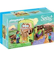 Dreamworks Spirit Riding Free: Pru & Chica Linda with Horse Stall