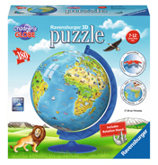 3D Puzzle Children's World Globe #1 (180 Piece)