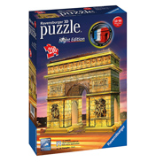 Arc de Triomphe Night Edition 3D Jigsaw Puzzle (216 Piece)