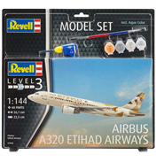 Airbus A320 Etihad Airways (Level 3) (Scale 1:144)