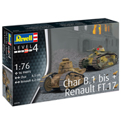 Char B.1 bis & Renault FT.17 (Level 4) (Scale 1:76)