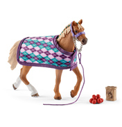 Horse Club English Thoroughbred with Blanket Figure & Accessory