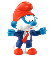 Smurfs Football Papa Smurf Trainer Figure
