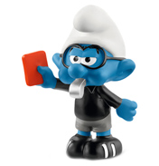 Smurfs Football Smurf Referee Figure