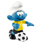 Smurfs Football Smurf with Ball Figure