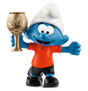 Smurfs Football Smurf with Trophy Figure