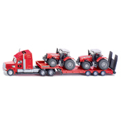 Low Loader With Massey Ferguson Tractors
