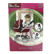 Surf 3 in 1 Dolls Pram in Aubergine