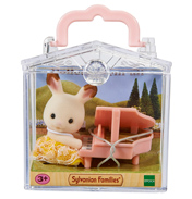 Baby Carry Case Chocolate Rabbit with Piano