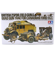 British 25 PDR Field Gun & Quad Tractor (Scale 1:35)