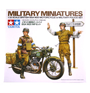 British BSA M20 Motorcycle w/ Military Police Set (Scale 1:35)