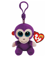 Ty Keyring Beanie Boos Grapes the Monkey