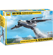 IL-76TD Emercom Russian Transport Airplane Model Kit (Scale 1:144)