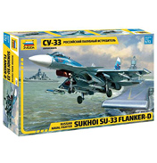 Russian Naval Fighter Sukhoi Su-33 Flanker-D (Scale 1:72)